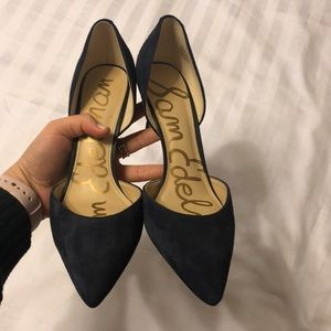 Sam Edelman Navy Suede Pumps